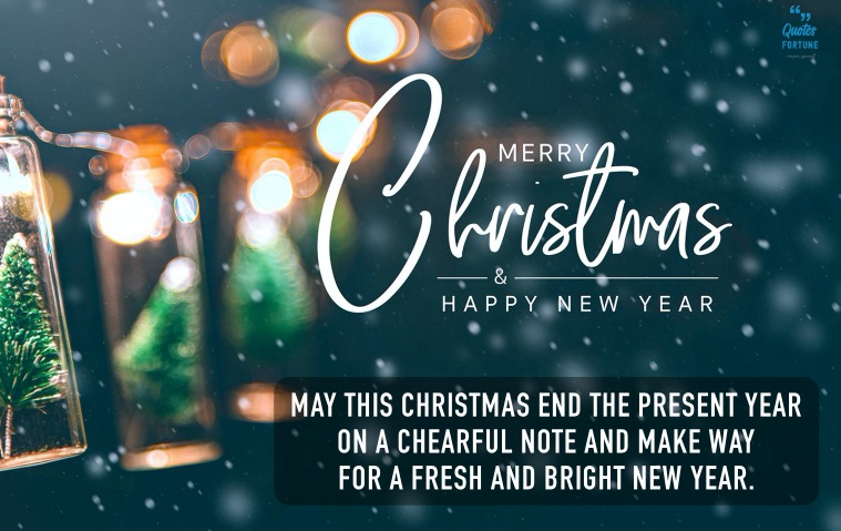 Merry Christmas & Happy New Year Quotes Wishes